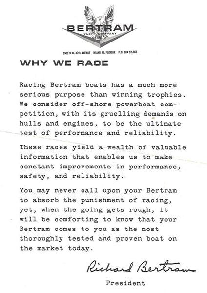 Bertram Race Letter