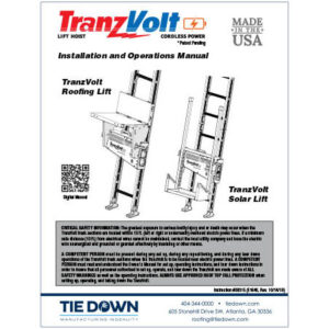 TranzVolt Instruction Manuals