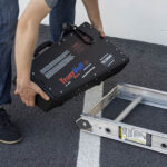 TranzVolt Roofing Platform Battery Power Carriage and Track Section