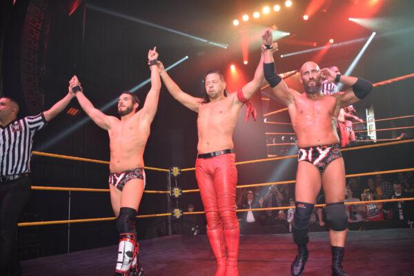 Johnny Gargano, Shinsuke Nakamura, and Tommaso Ciampa