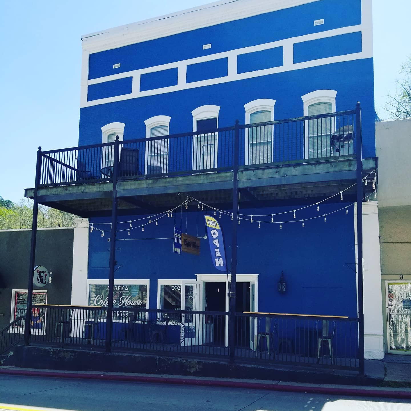 Blue Historic Building