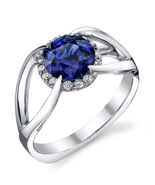 BLUE SAPPHIRE BRIDAL RING