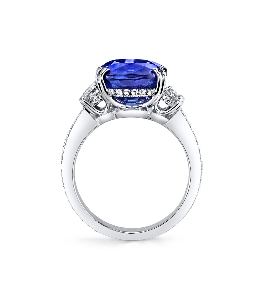 7.03ct Cushion Cut Sapphire Harmonie Ring