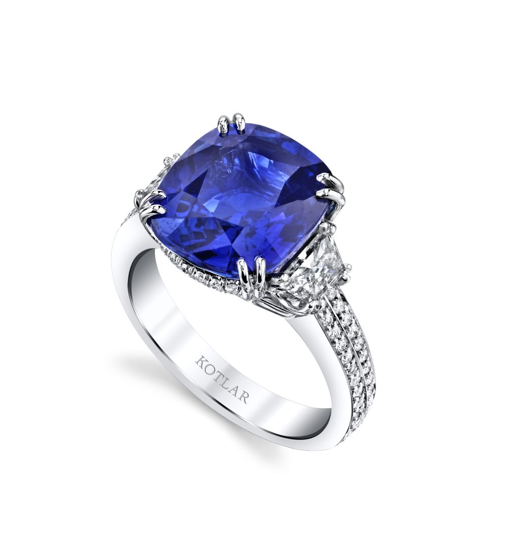 7.03ct Cushion Cut Sapphire Harmonie Ring