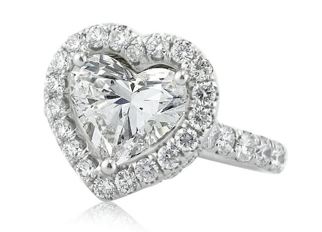 5.13ct Heart Shaped Diamond Engagement Ring.