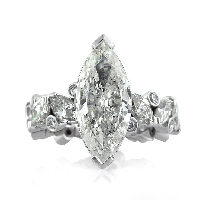 6.76ct Marquise Cut Diamond Engagement Ring