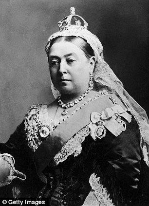 Fit for a queen: This small diamond crown, as worn by Queen Victoria for her official Diamond Jubilee portrait in 1870