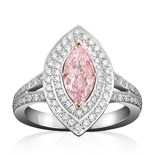 Double Vintage Pink Diamond Ring by Boodles