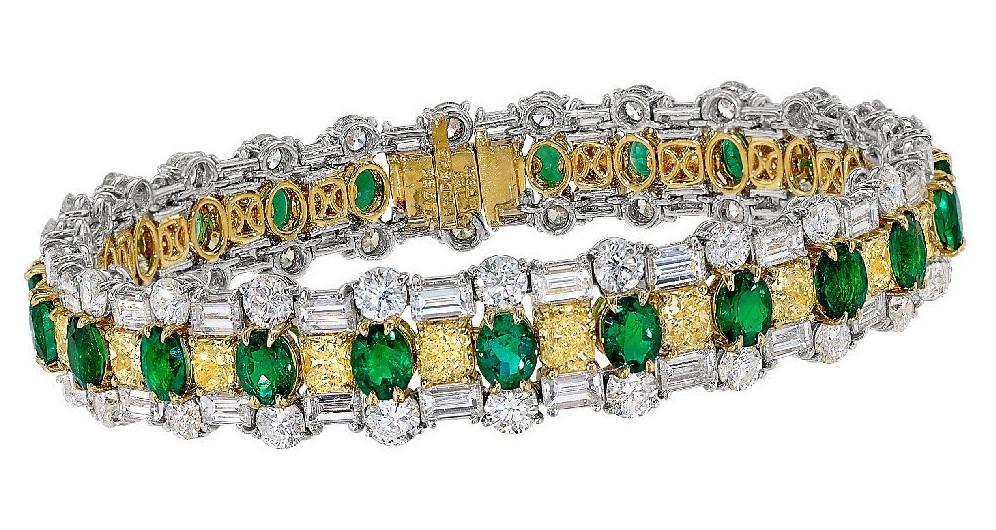 Zambian Oval Emerald Bracelet