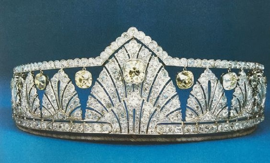 Art deco tiara once owned by Princess Alice, Countess of Athlone