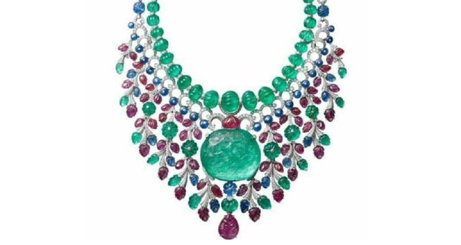 A Gorgeous Cartier High Jewelry Gemstone Platinum Necklace