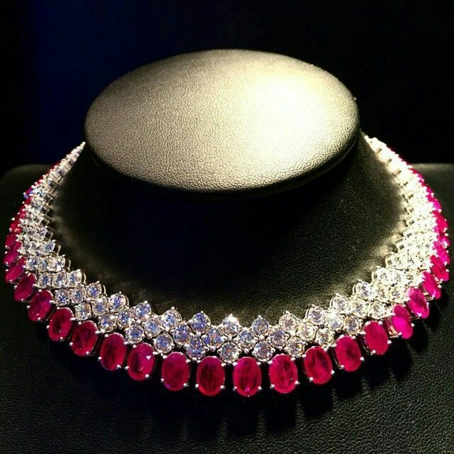 A Gorgeous Ruby and Diamond Necklace
