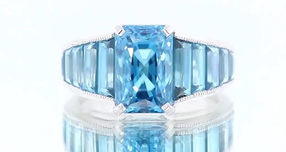 Gorgeous Blue Zircon Ring