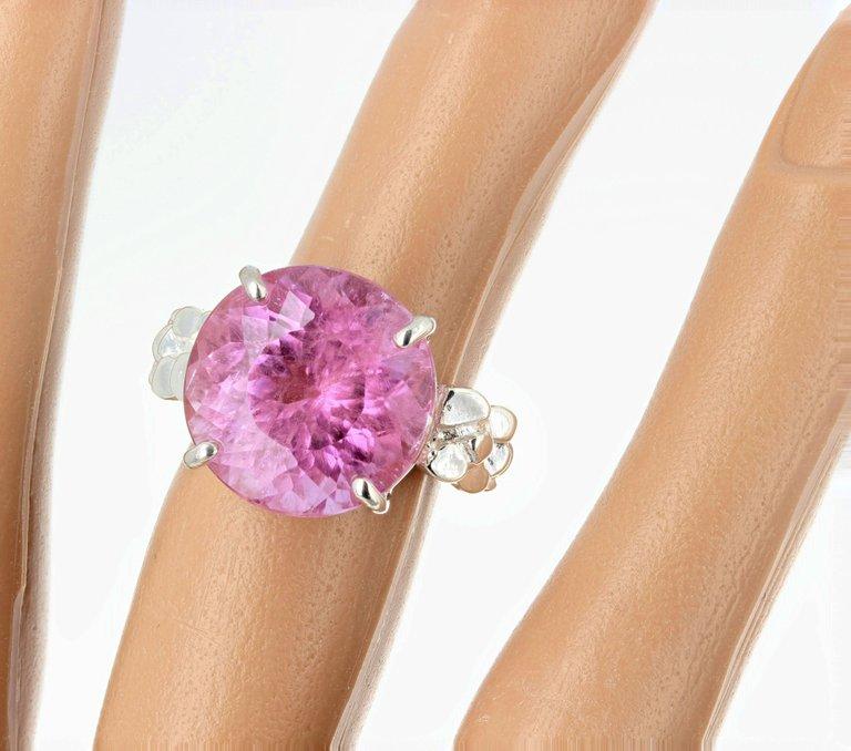 13.5 Carat Pinky Kunzite Sterling Silver Ring $980