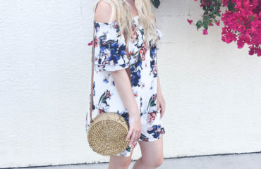 Floral Off the shoulder dress on livin' life with style