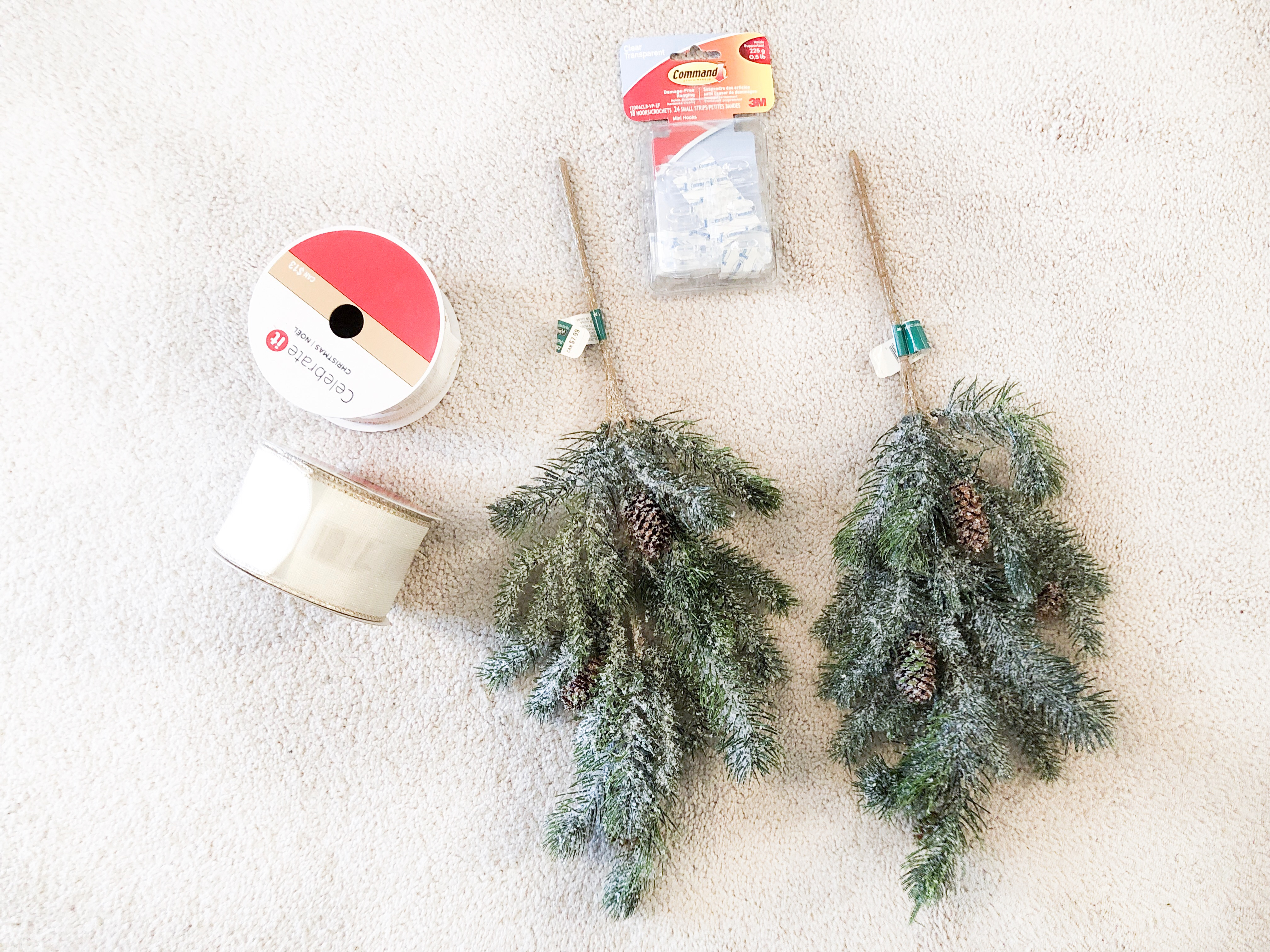 Michaels Craft Store-DYI; Christmas Garland; Livin Life with Style