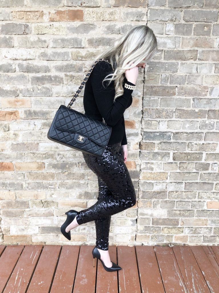Sequin Pants from Express; New Years Eve Look on Livin Life with Style