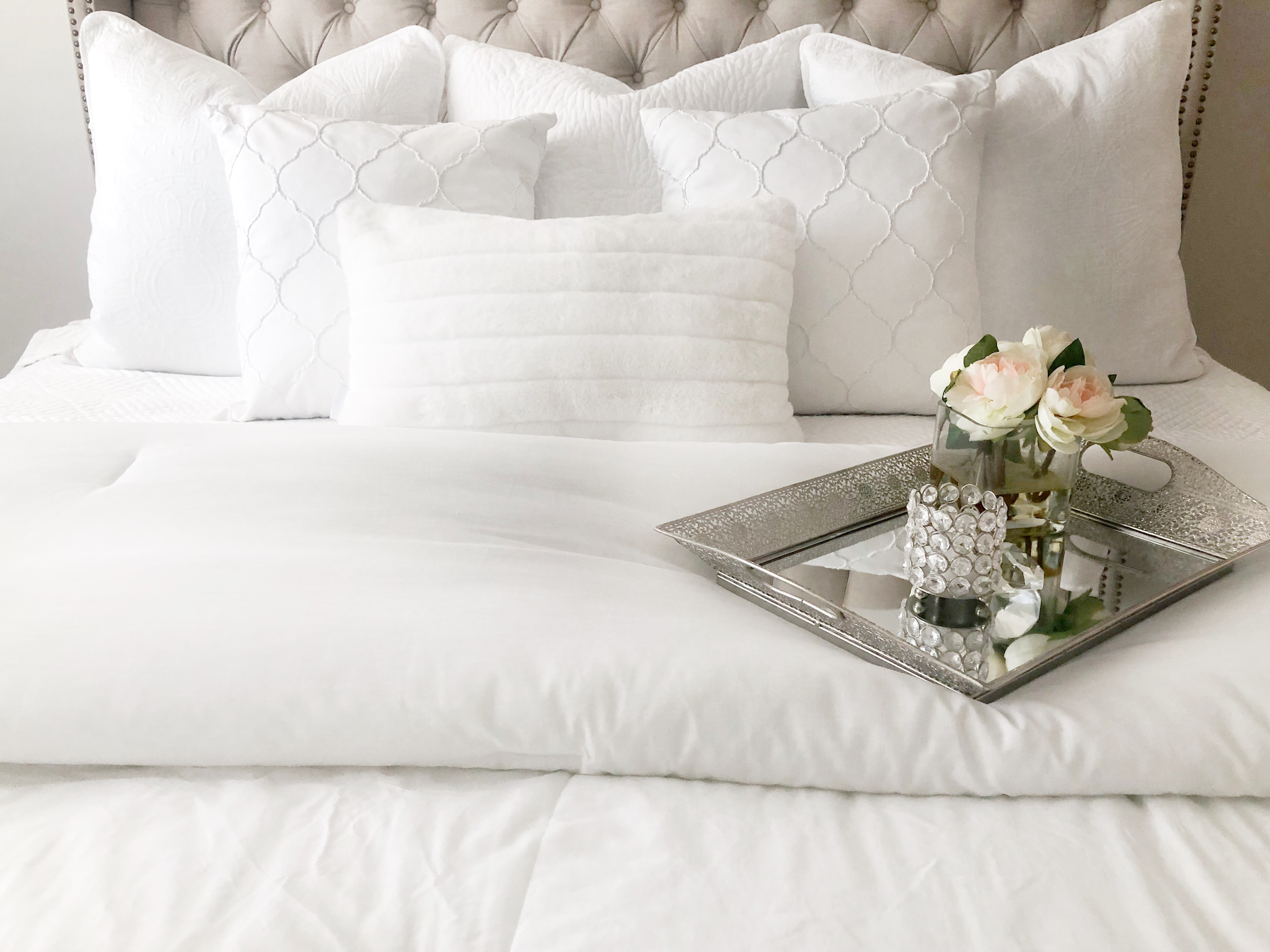 How to style a bed - HomeSense; Livin Life with Style