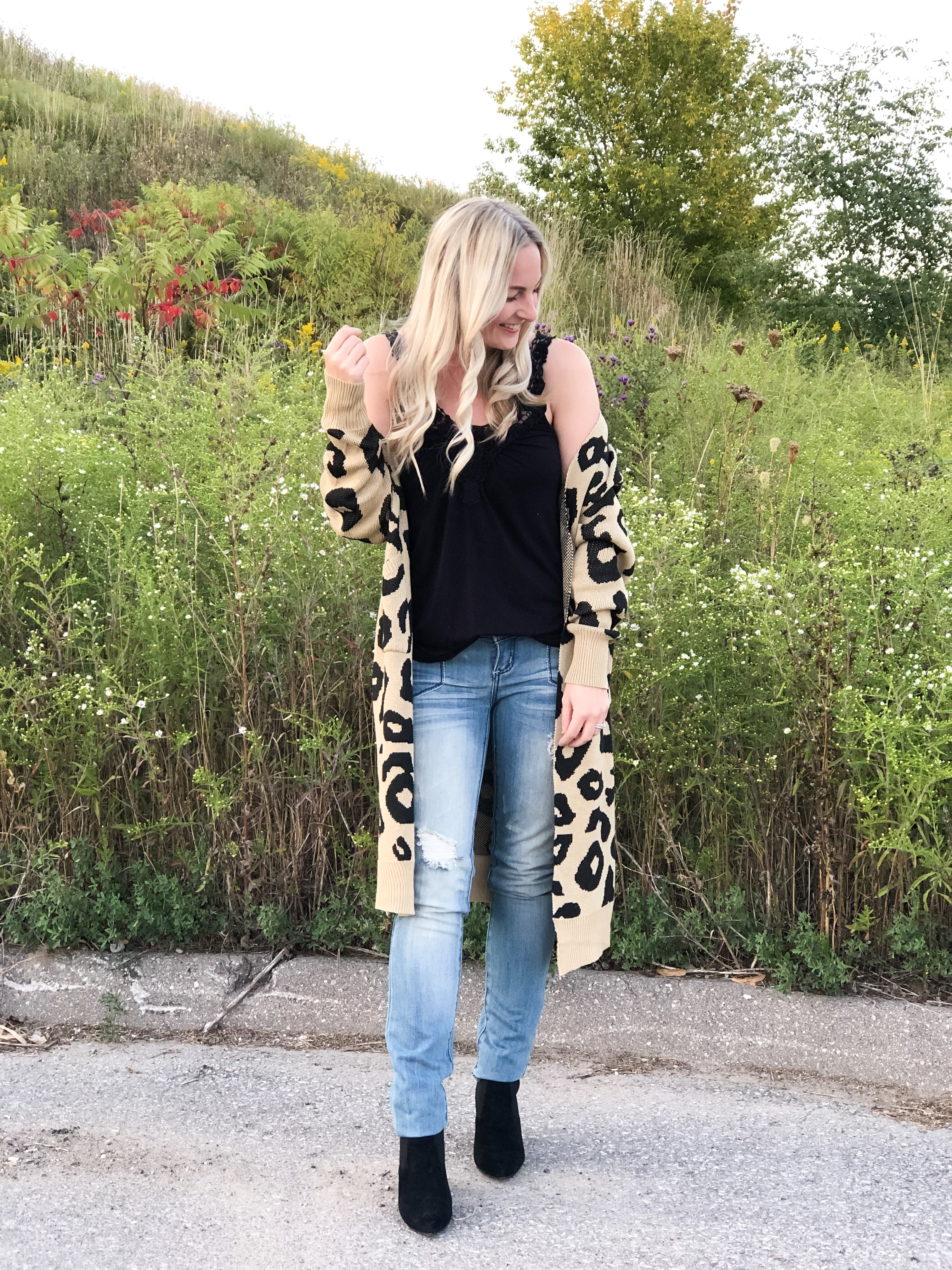 Leopard Print Cardigan from Amazon on Livin' Life with Style
