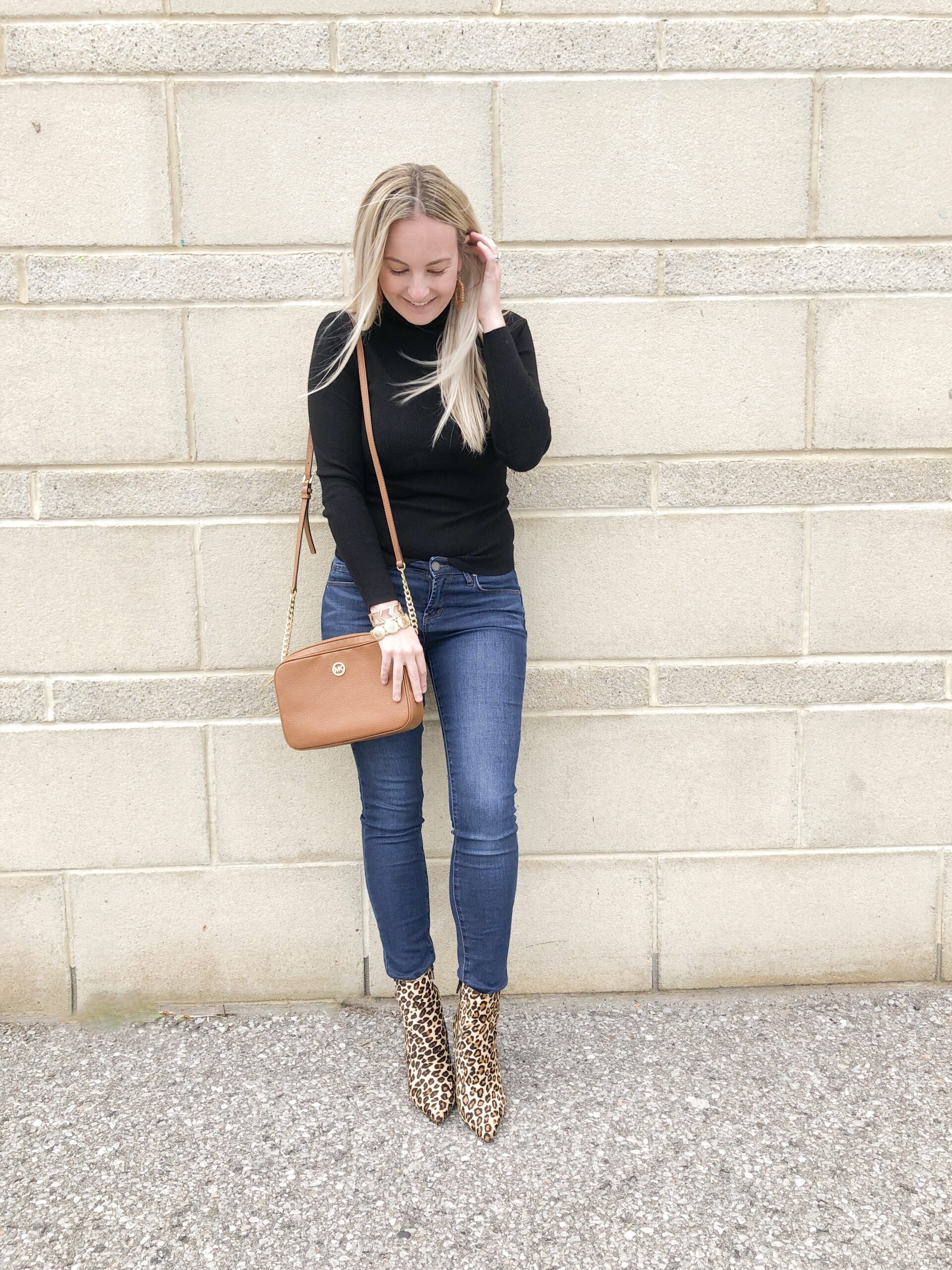 leopard print booties style post on livin' life with style