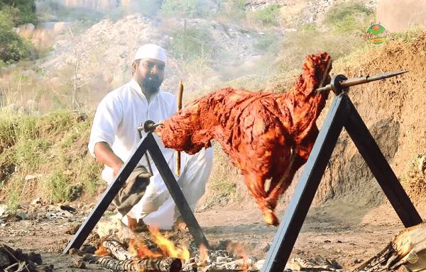 Goat roasting