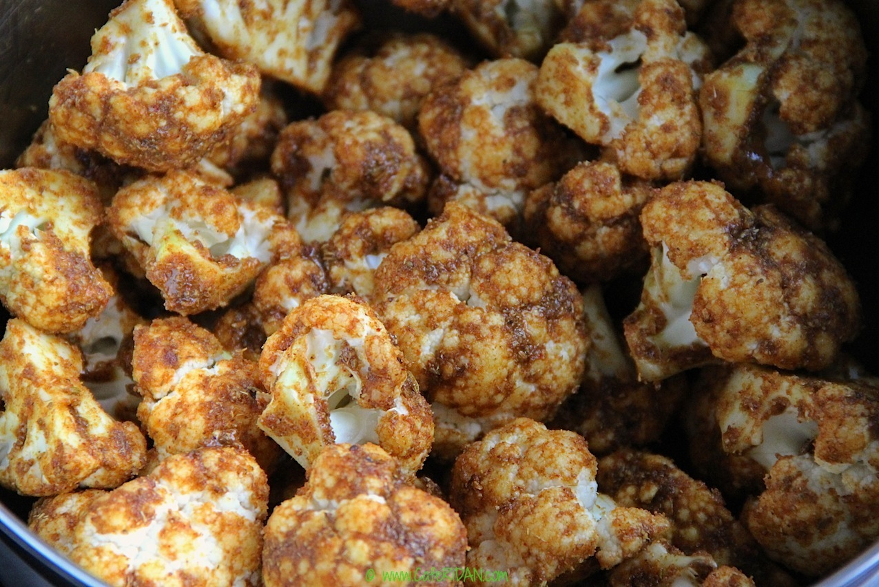 Oven Roasted Indian Cauliflower