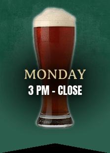 Monday 3pm to close
