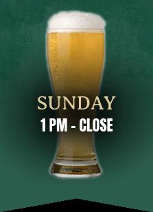Sunday 1pm to close