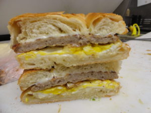 sausage egg cheese croissant