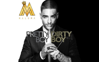 Maluma debuta #1 en ventas con Pretty Boy Dirty Boy según el listado Top Latin Albums de Billboard