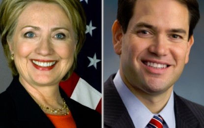 Rubio, Clinton Far Ahead of Opponents with Double-Digit Latino Voter Leads, According to New Survey