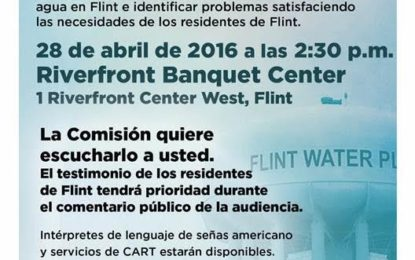Audiencia Pública de la Crisis de Agua en Flint