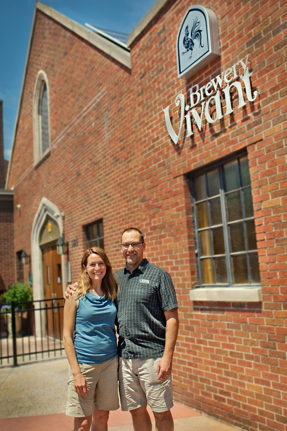 Jason & Kris Spaulding, Owners of Brewery Vivant.