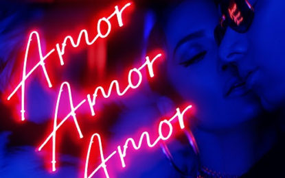 """JENNIFER LOPEZ is number one on  Billboard's """"Latin Airplay"""" chart with """"AMOR, AMOR, AMOR"""" feat. WISIN"""