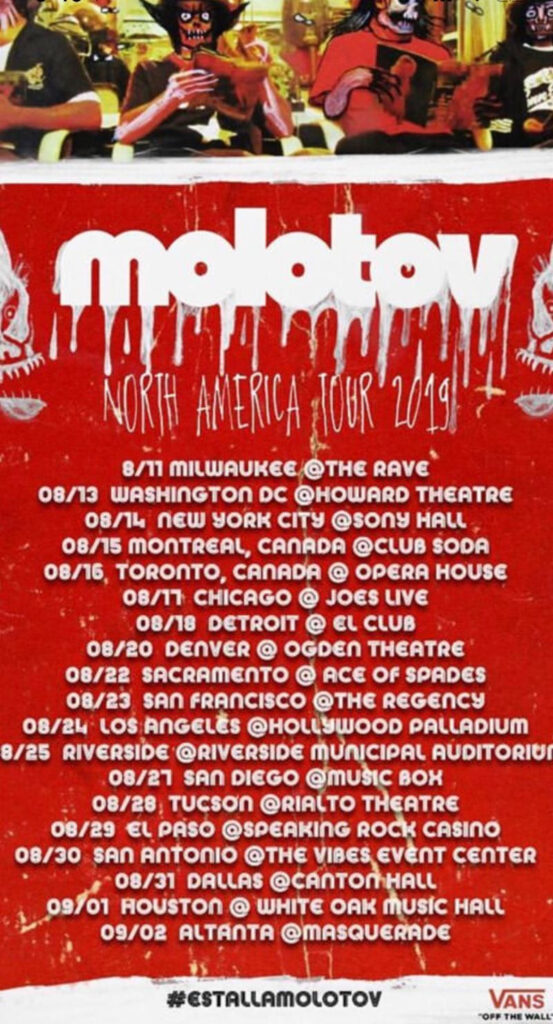 Molotov Gira Norteamerica