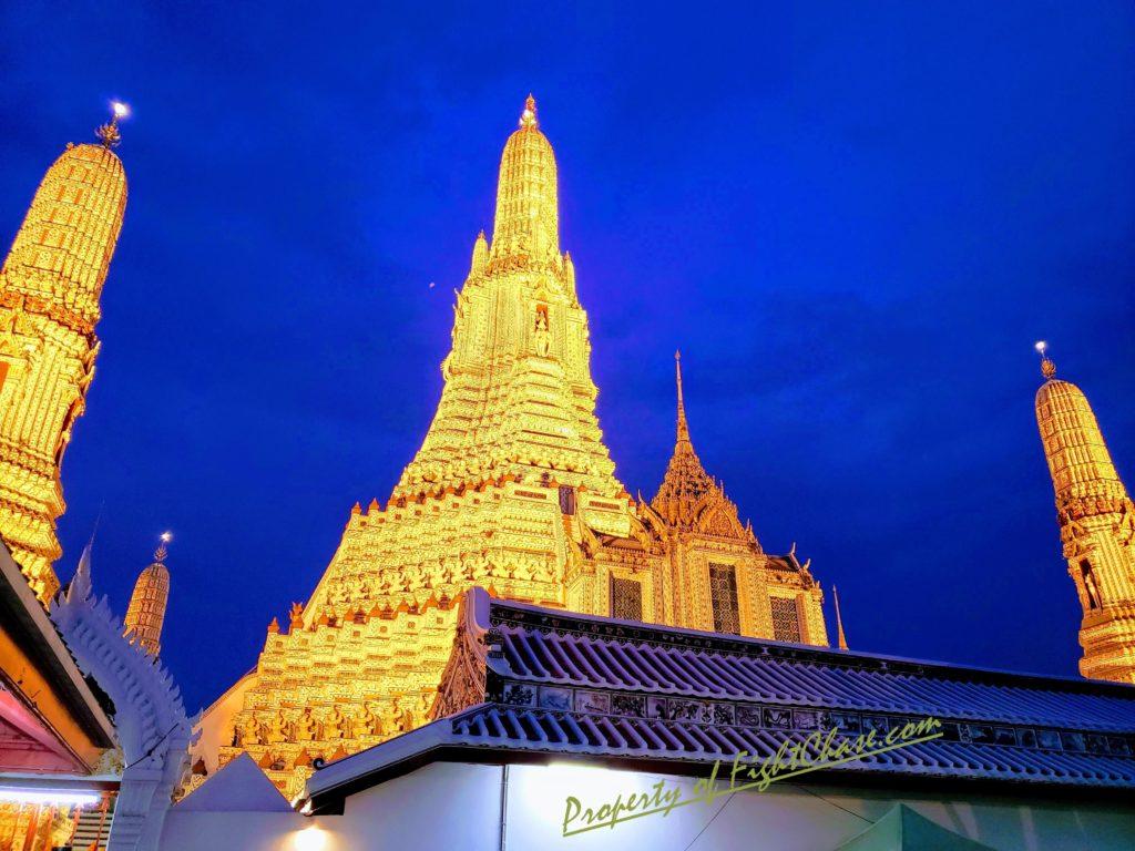 The stunning Temple of Dawn in Bangkok Thailand, Wat Arun