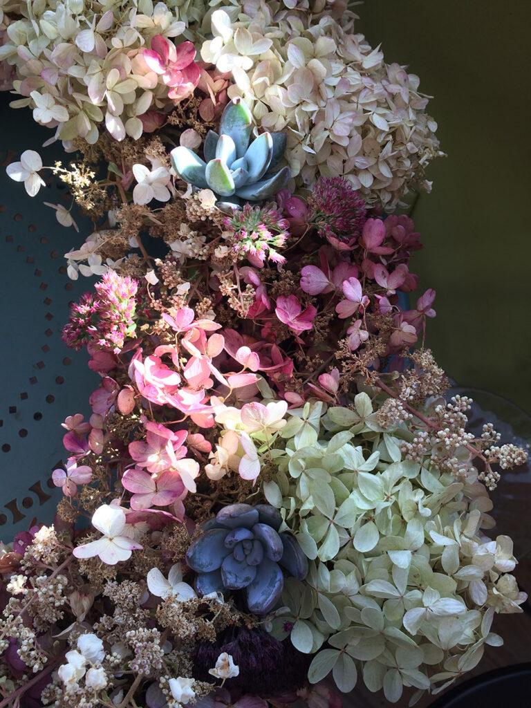 Detail of an autumnal wreath