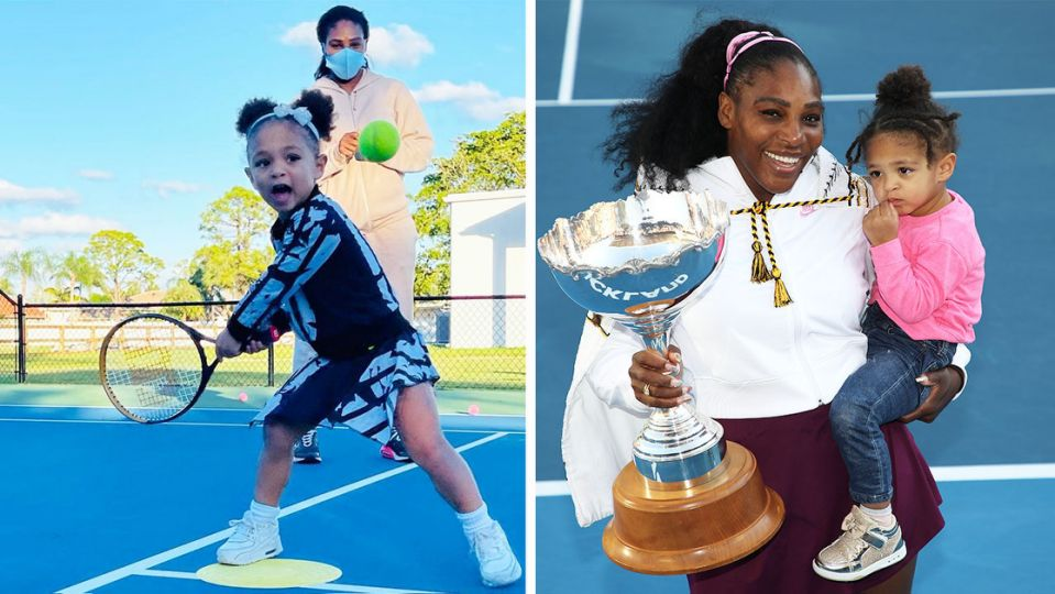 Serena Williams Trains with Olympia