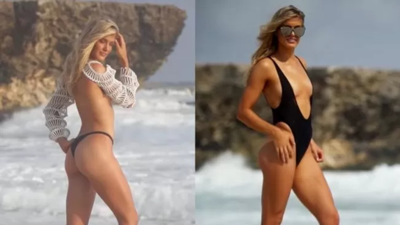 Black Swimsuit Sport Illustrated Video Featuring Genie Bouchard