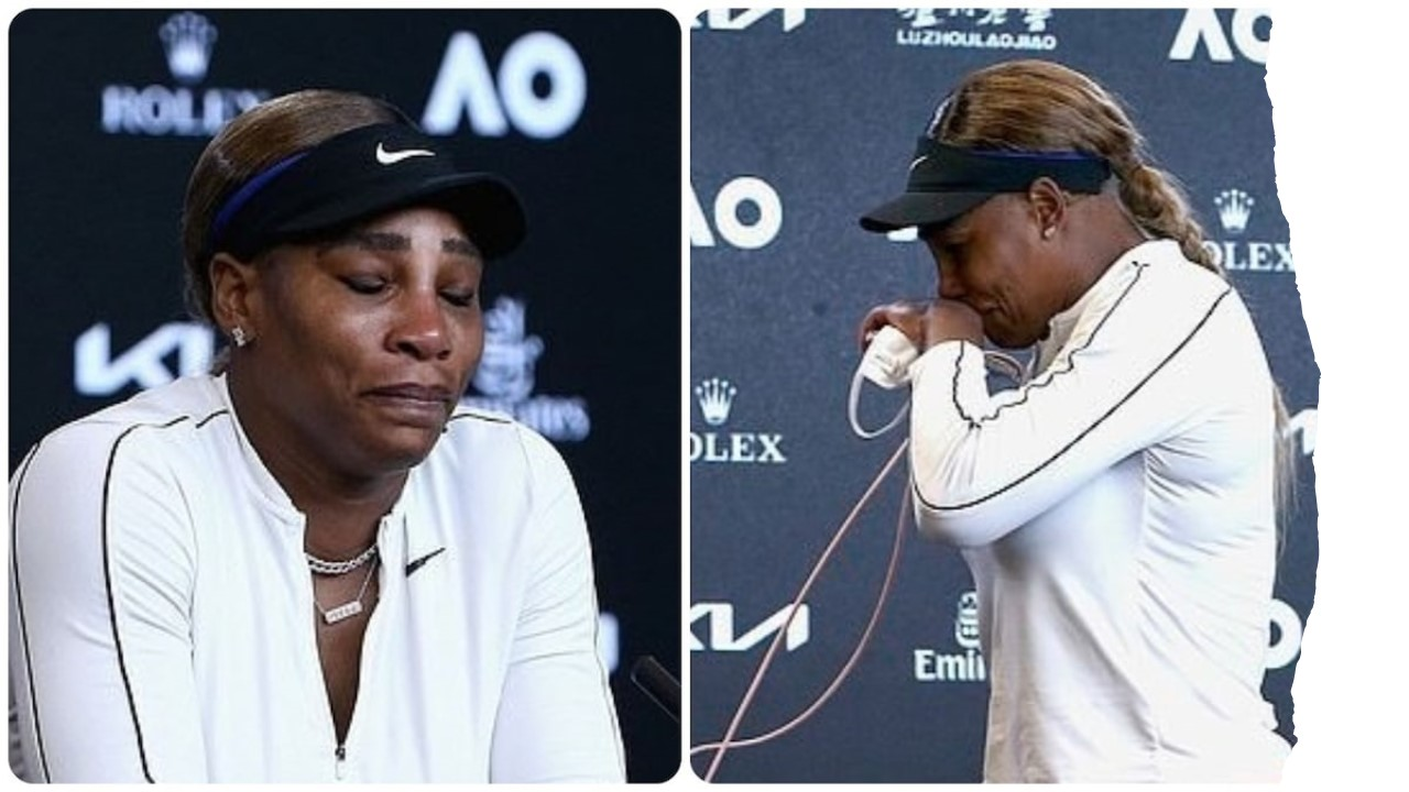 Serena Williams calls it a big error day before she breaks down during post match presser