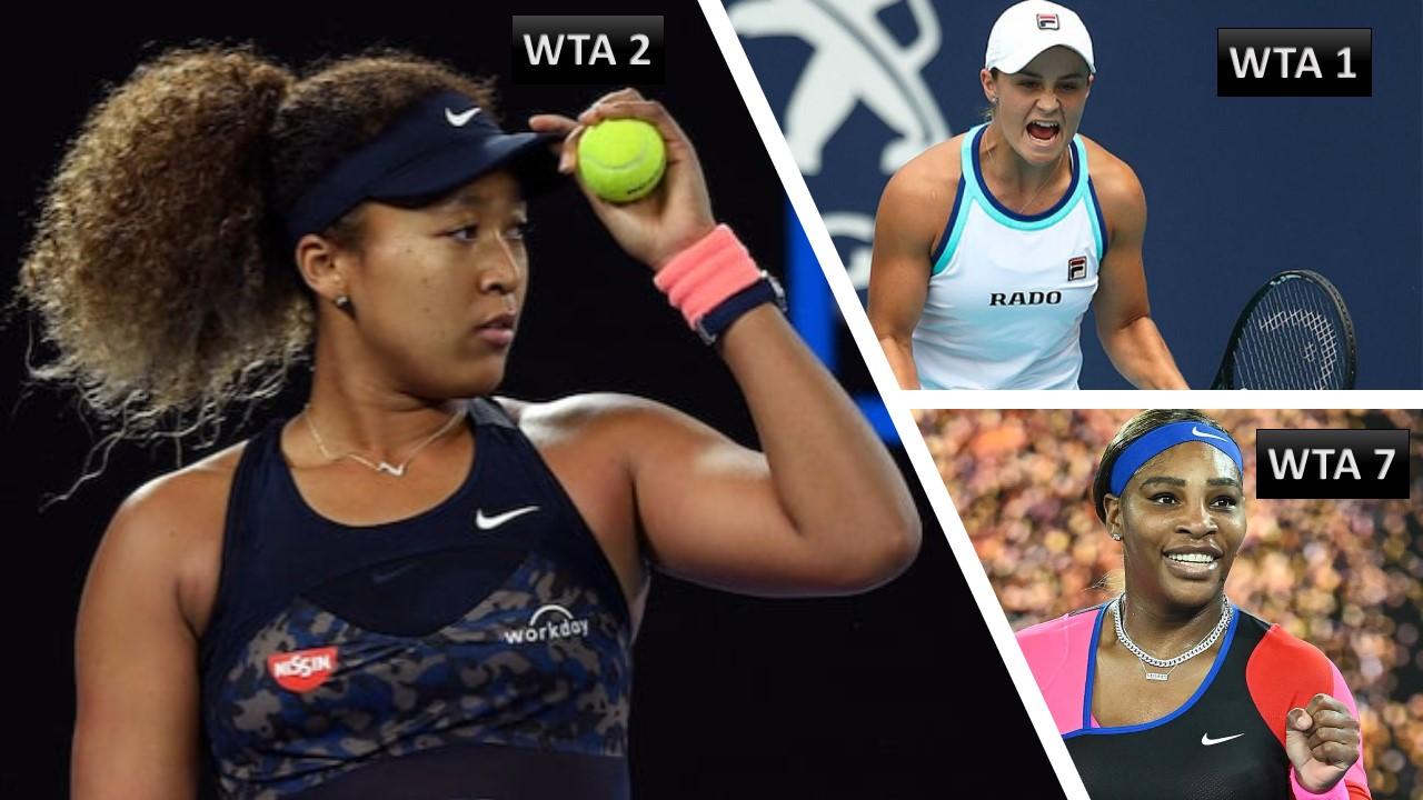 Strange anomaly in the WTA ranking of Barty, Osaka & Williams