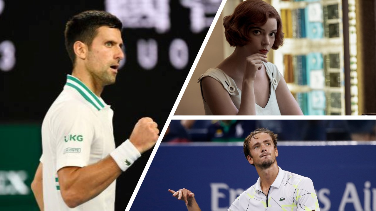 Why are experts comparing the Medvedev Djokovic final with the Queen's Gambit