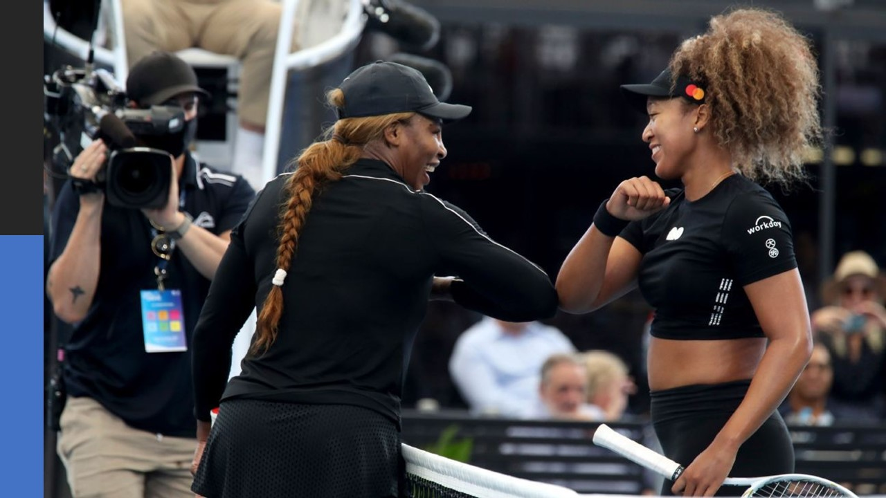 Why does Serena consider Naomi an 'Incredible Opponent'