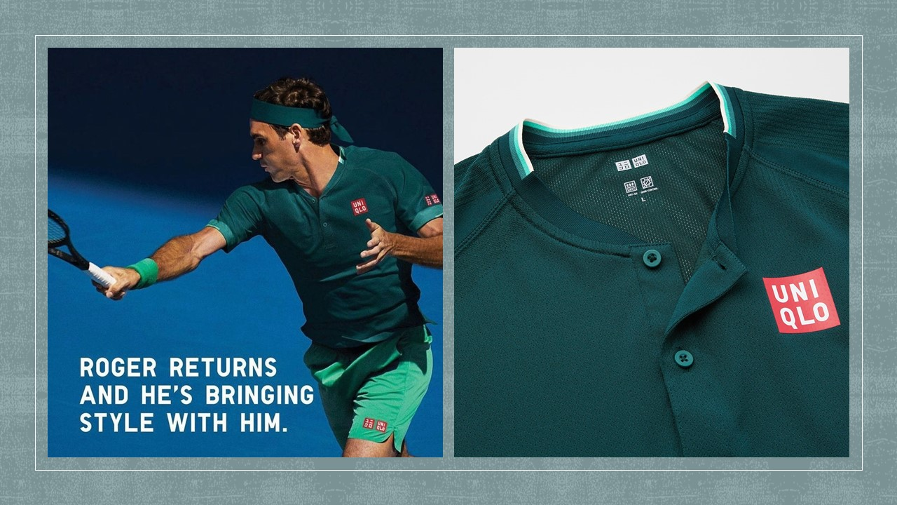 Roger Federer's fresh new outfit by Uniqlo to kickstart 2021