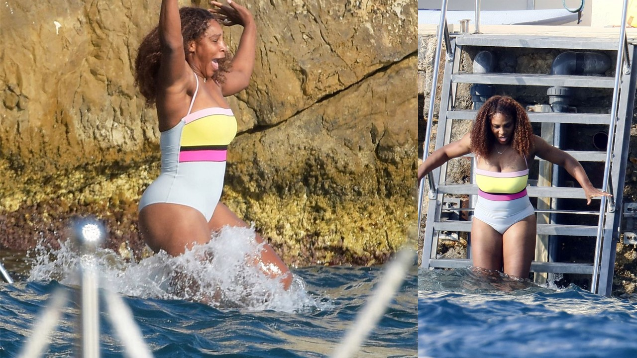 Serena Williams boasts of her beach body in single-piece swimsuit