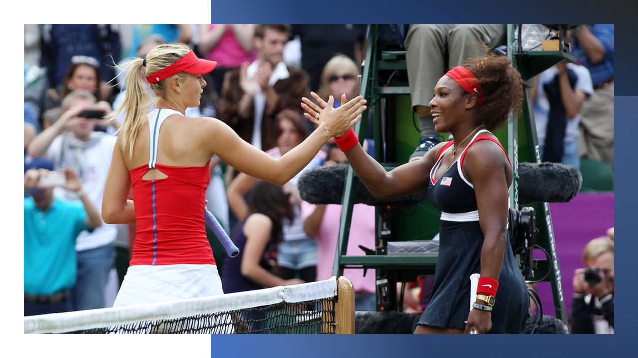 Serena overcomes Sharapova to claim the 2012 Olympic gold medal in style