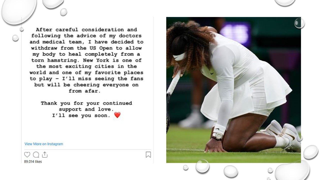 Serena Williams will not be playing at the US Open this year