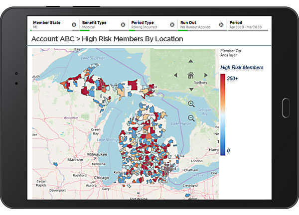 COVID-19 Analytics- High Risk Members by Location