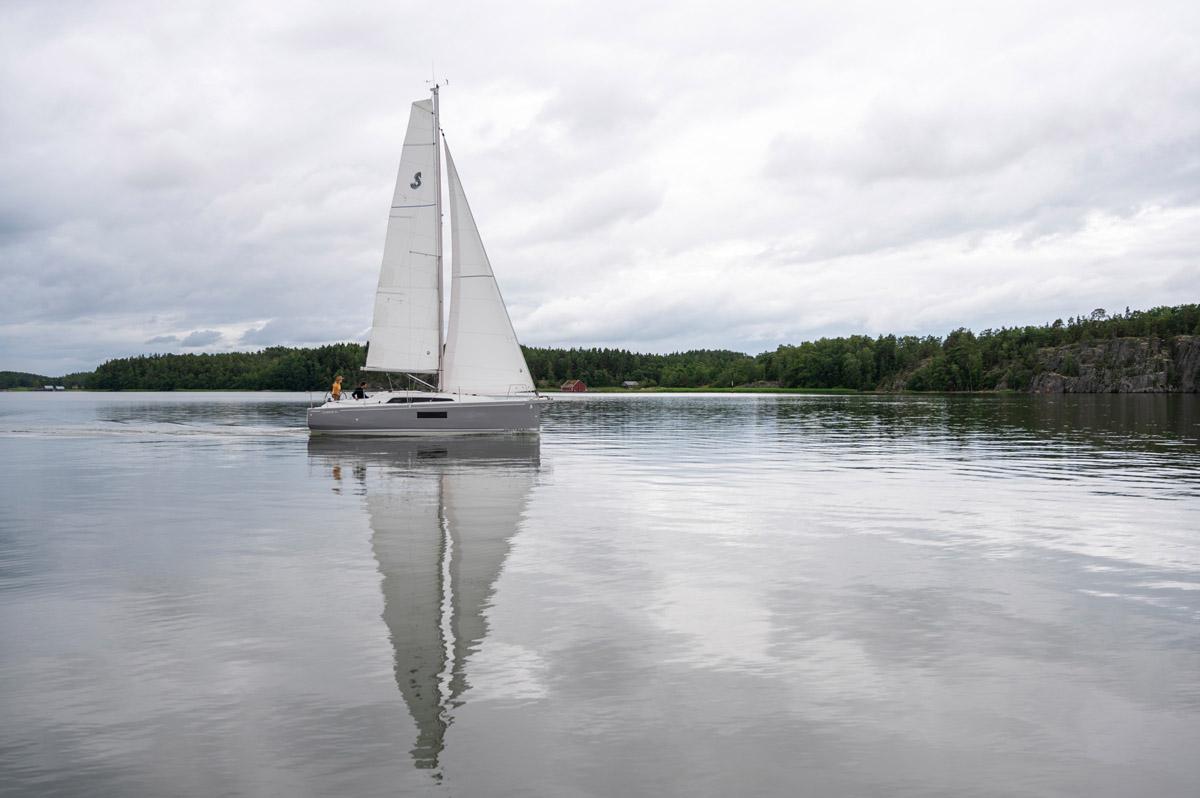 Voilier Océanis 30.1,shooting Groupe Bénéteau en Finlande