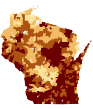 Radon Map Wisconsin